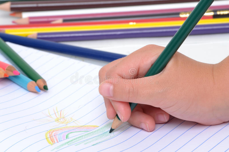Download Child Coloring stock photo. Image of coloring, school - 26245702