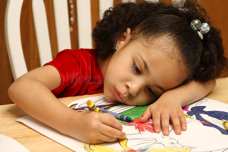 Download Child coloring stock photo. Image of female, kindergarden - 4591200