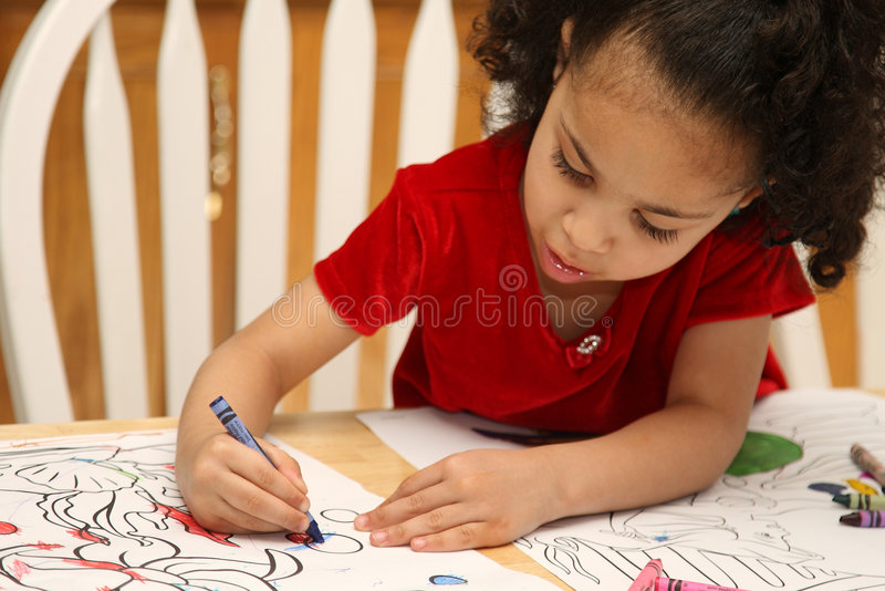 Child coloring stock image. Image of park, drawing, expression - 4591213