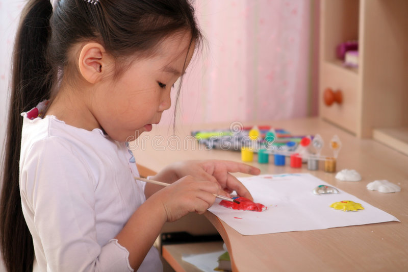 Child coloring royalty free stock photography