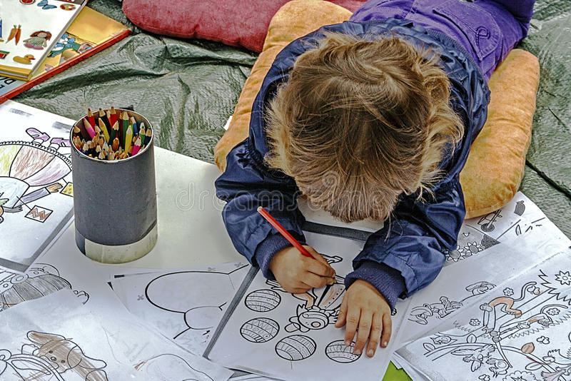 Download Child coloring editorial image. Image of funny, childhood - 39514625