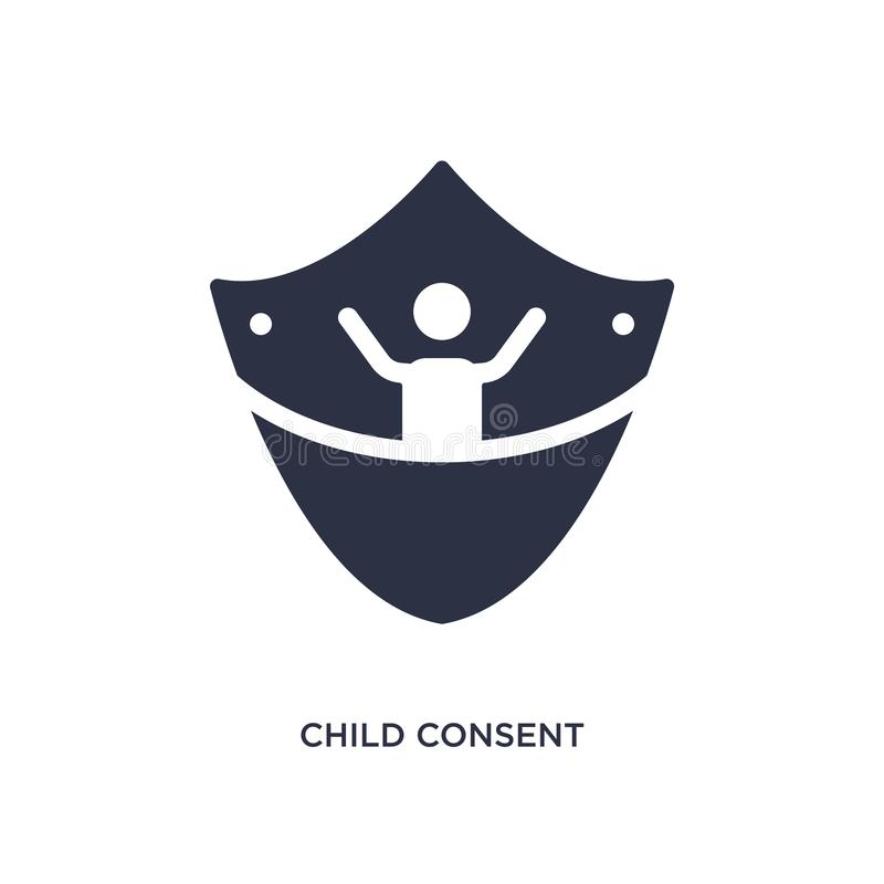 child consent icon on white background. Simple element illustration from gdpr concept vector illustration