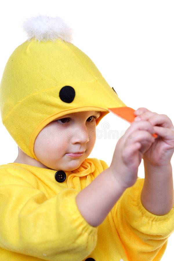 Child in a costume royalty free stock image