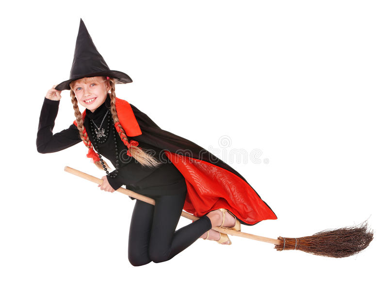 Child in costume Halloween stock photos