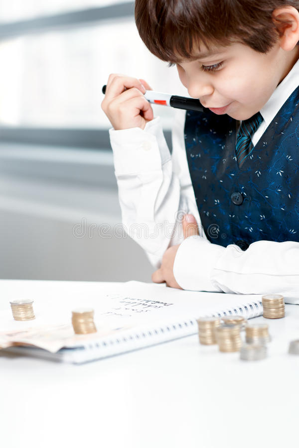 Download Child counting money stock image. Image of budget, finance - 17639269