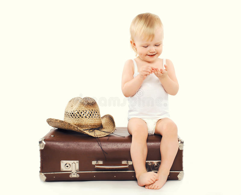 Child in country cowboy style royalty free stock photography