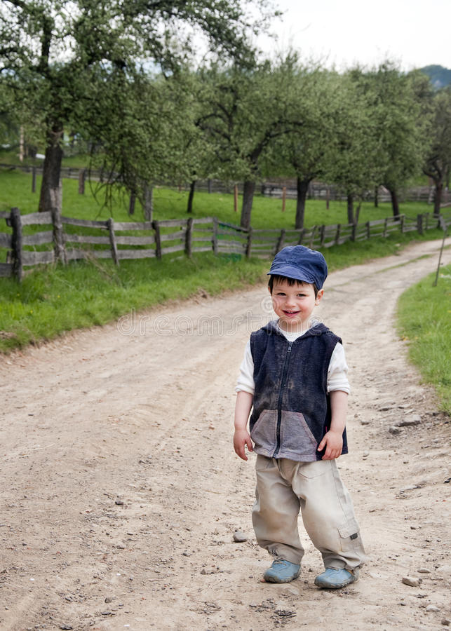 Download Child on a country road stock photo. Image of kids, active - 19410664