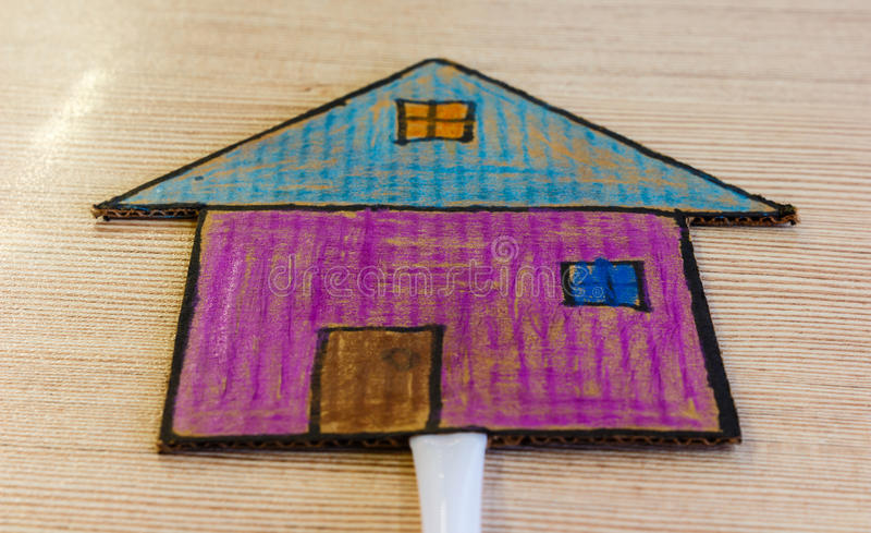 Child craft paper stock photos