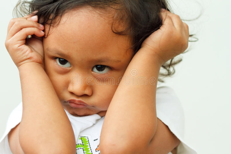 Download Child In Cranky Mood Stock Image - Image: 19576791