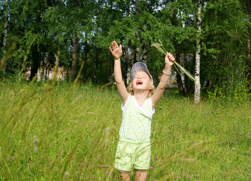 Download Child Cries At Meadow Stock Photos - Image: 20336063