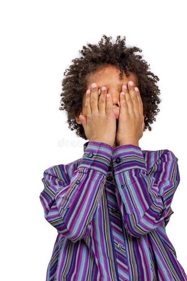 Child cries. stock photo