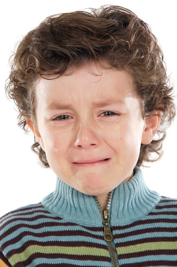 Child crying stock image