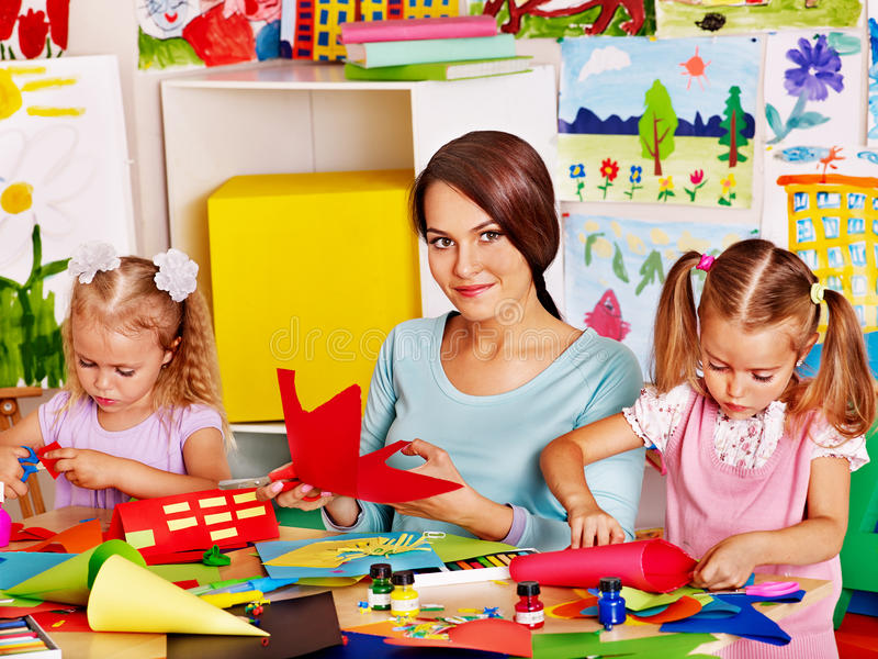 Download Child Cutting Out Scissors Paper. Stock Photo - Image: 38714056