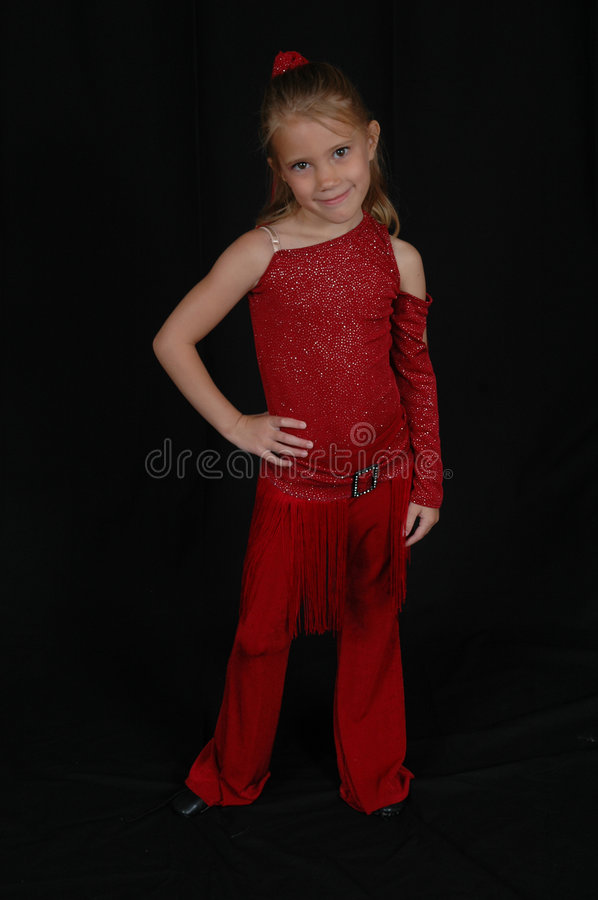 Child Dancer 3. Young performer dancer. Beautiful Young blonde model stock photography