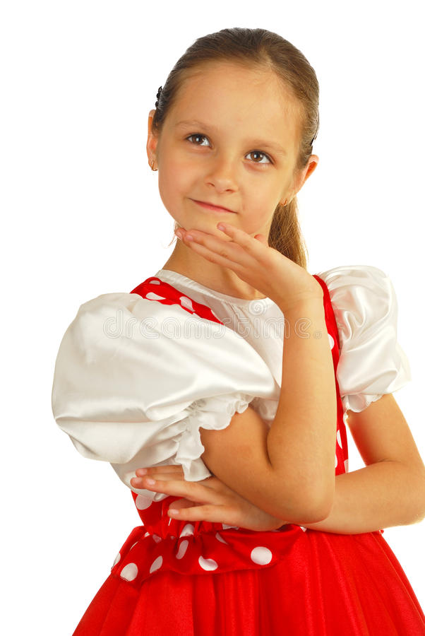 The child dances in Russian dance costume