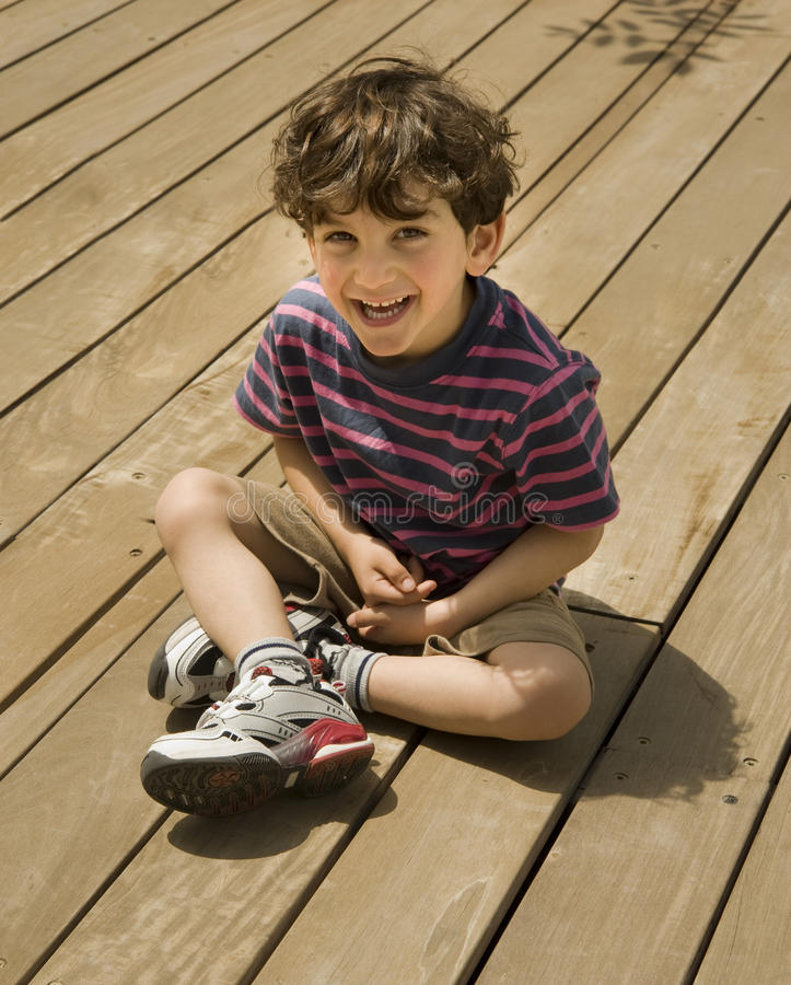 Download Child on deck stock image. Image of hair, cute, caucasian - 14754447