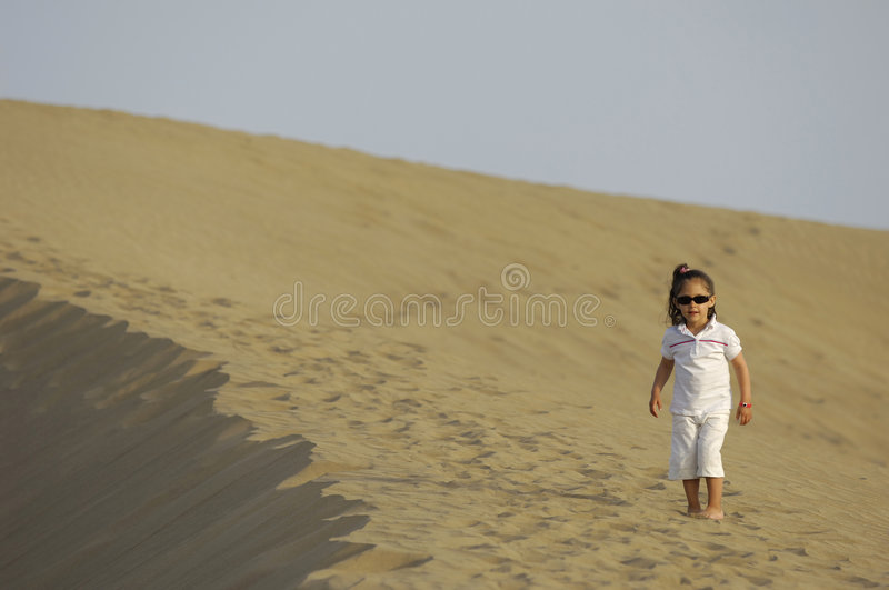 Download Child in desert stock photo. Image of color, heat, childhood - 3010390