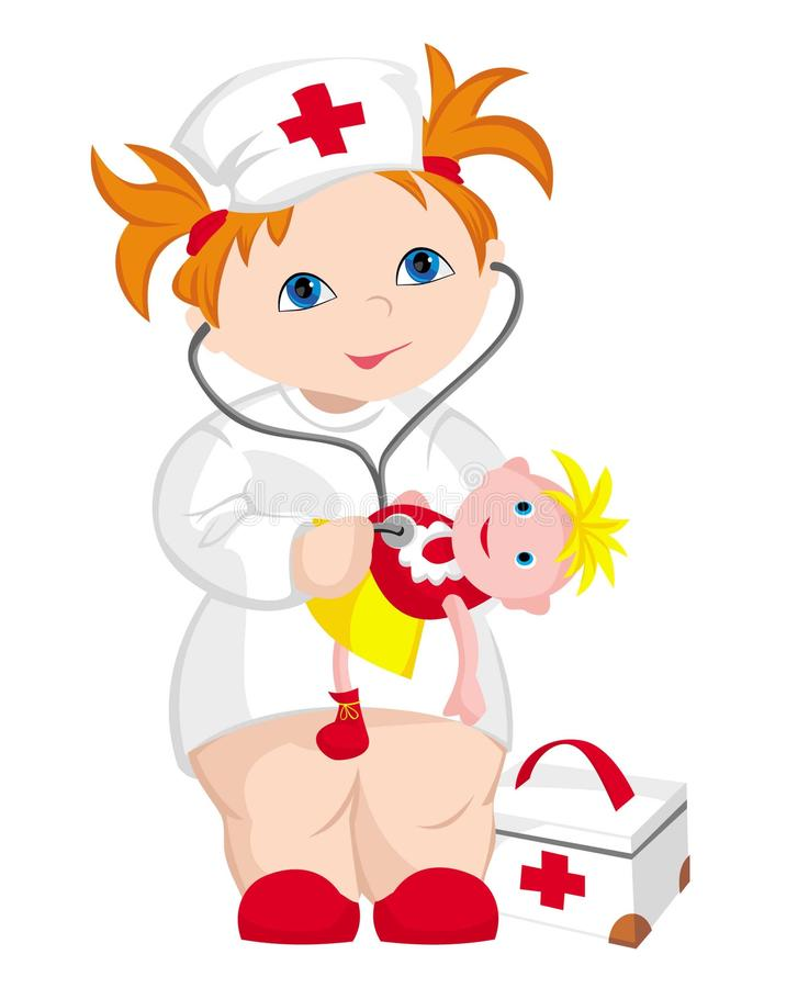 The child - doctor royalty free stock photography