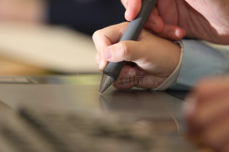 Child draw royalty free stock photos