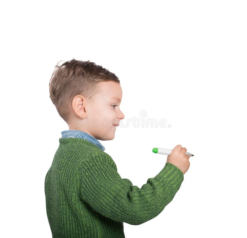 Child draw and color royalty free stock photography