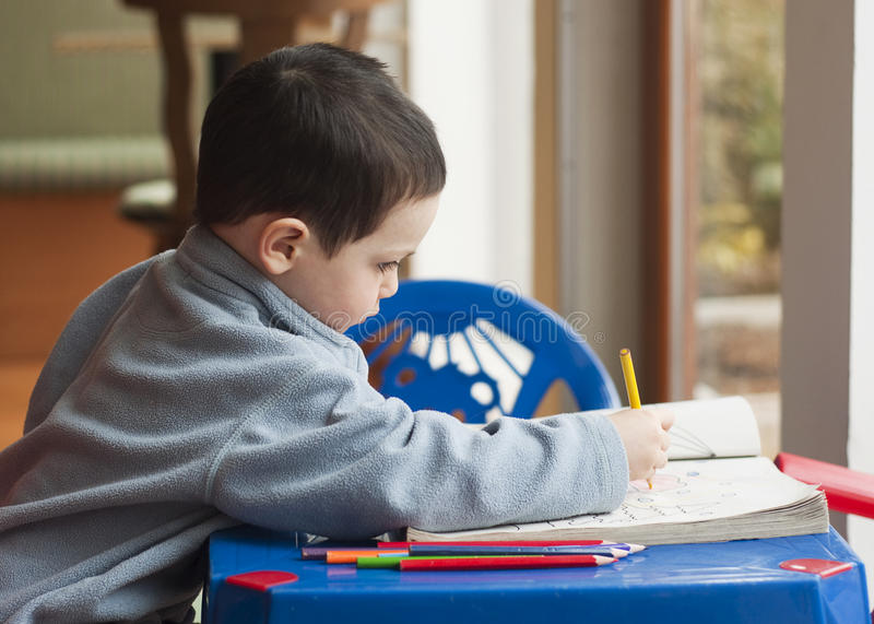 Child drawing stock images