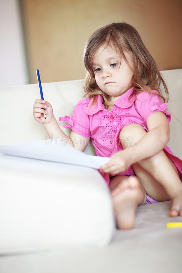 Download Child Drawing Royalty Free Stock Image - Image: 24881276