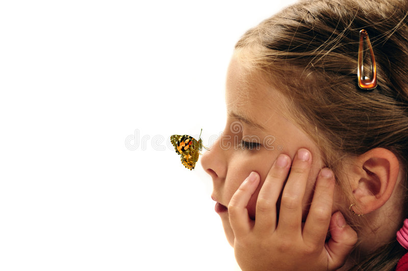 Download Child Dreaming About Future Stock Image - Image of butterfly, face: 6863323