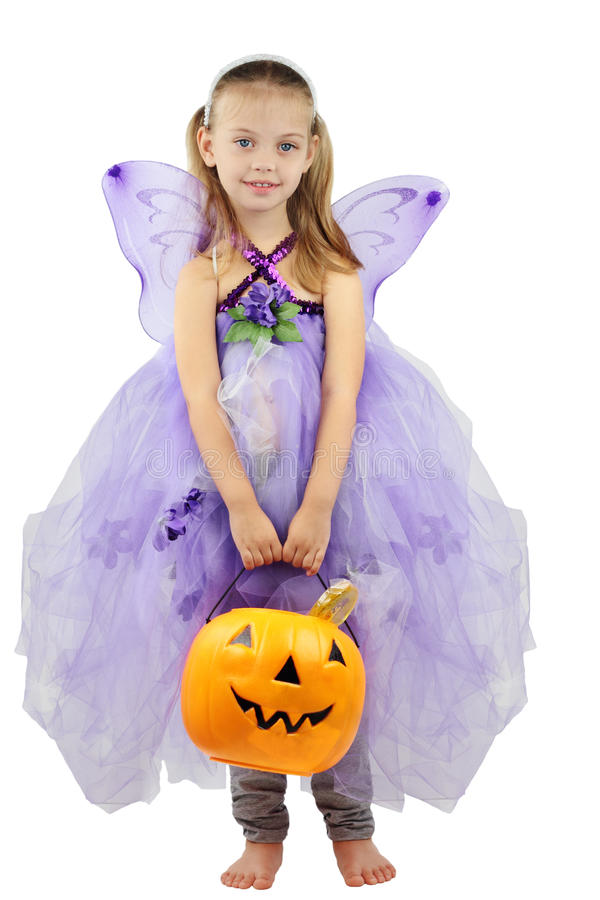 Child Dressed for Halloween stock image