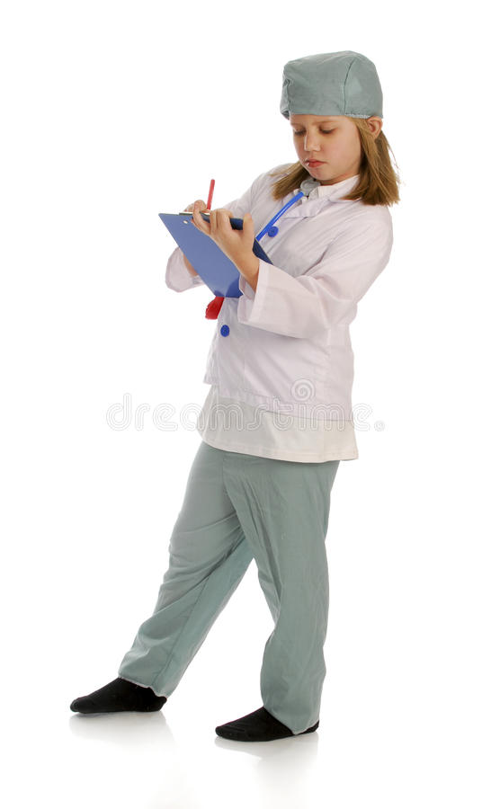 Child dressed up like doctor royalty free stock photo