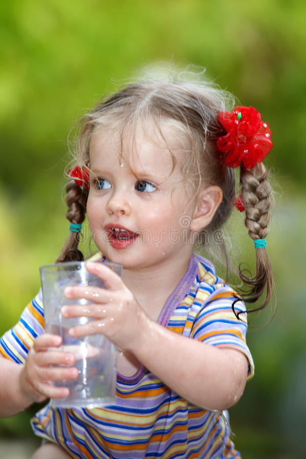 Download Child Drinking Glass Of Water. Stock Photo - Image: 15124040