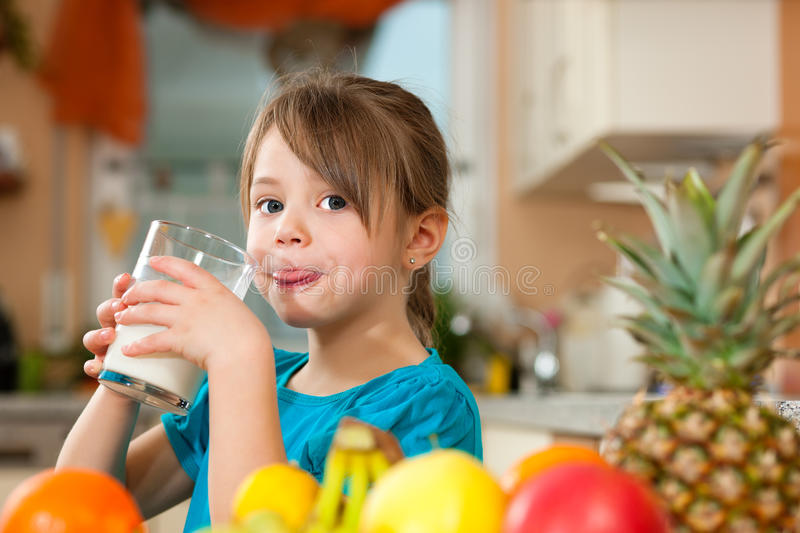 Download Child drinking milk stock photo. Image of drinking, glass - 18543358