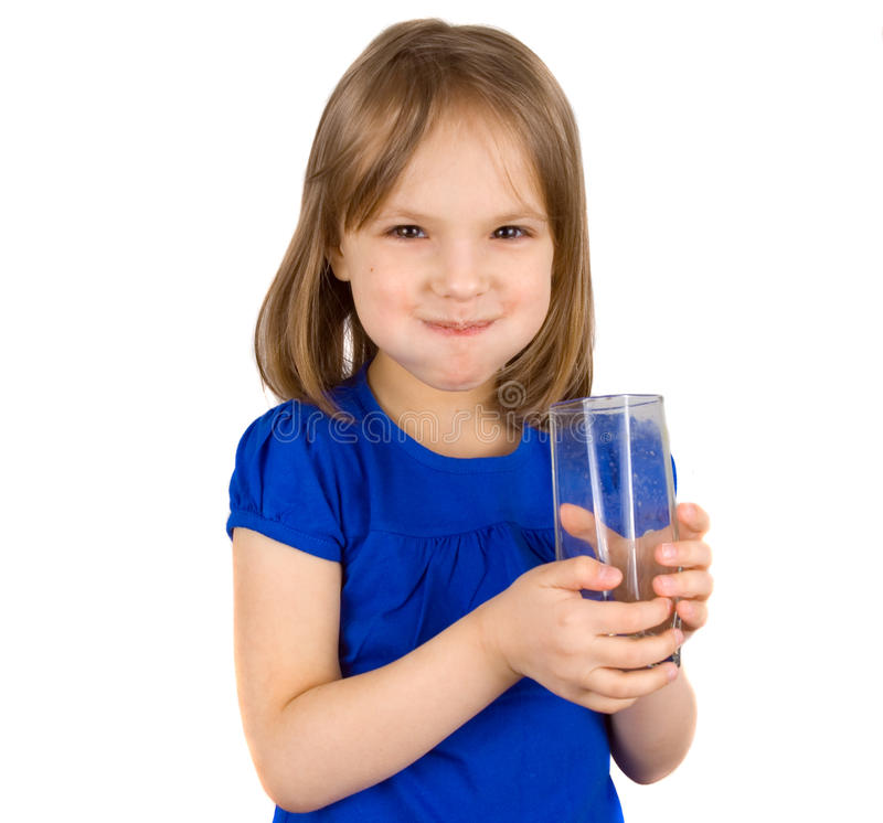 Child drinks juice stock photo