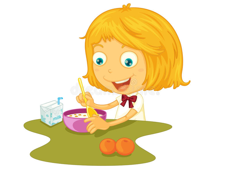 Download Child eating stock vector. Image of carton, illustration - 24413348