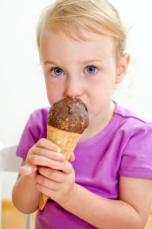Child Eating Ice Cream Stock Image