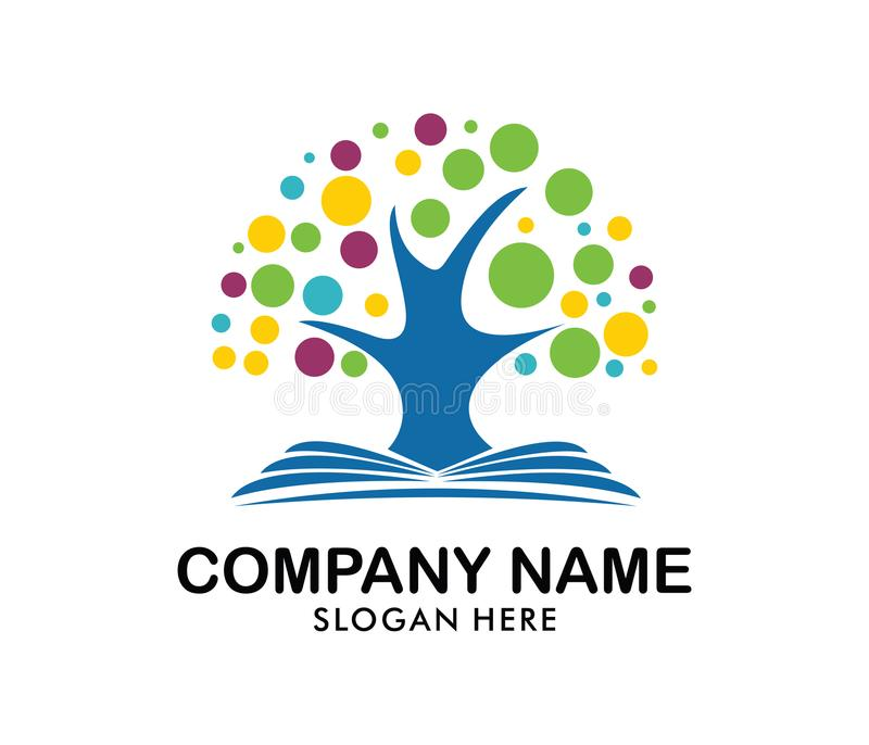 Child Education And Nursery Camp Logo Design Stock Illustration