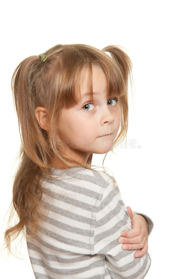 Child emotions stock photography