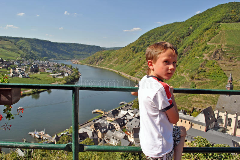 Download Child Enjoying View On The Mosel River Stock Photo - Image of look, child: 22690800