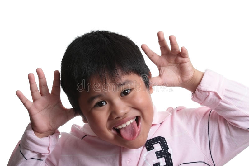 Child Expressing Surprise Stock Image