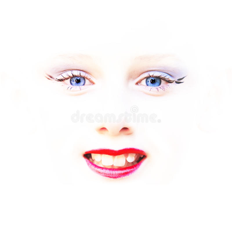 Download Child Face Eyes Mouth Abstract Stock Photo - Image: 12614224
