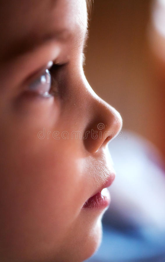 Child face profile royalty free stock photos