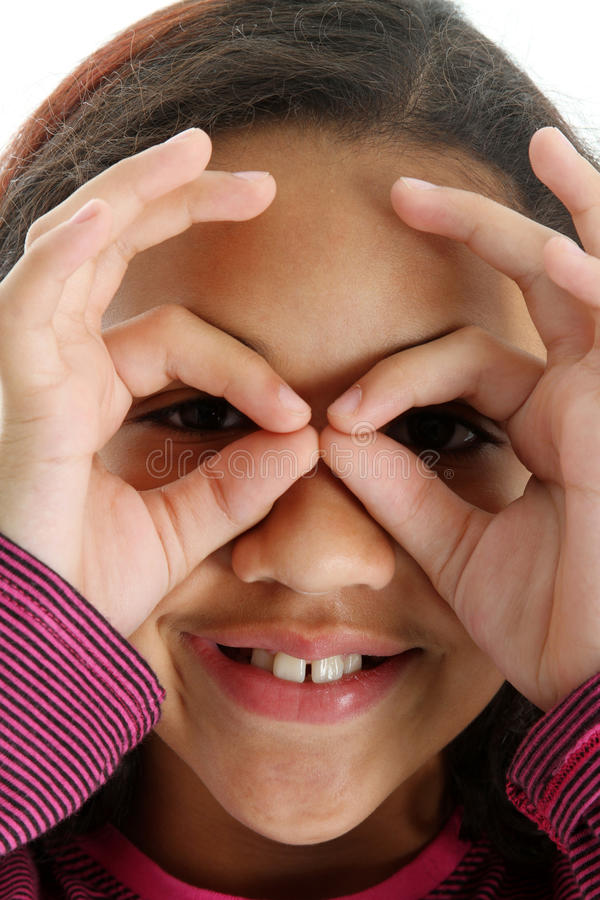 Download Child With Fake Glasses stock image. Image of hands, happy - 16720221
