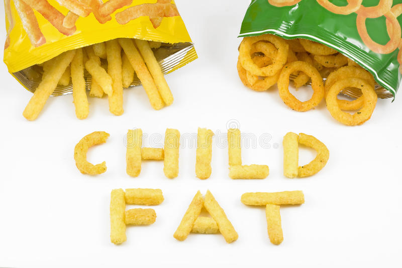 Child fat royalty free stock photography