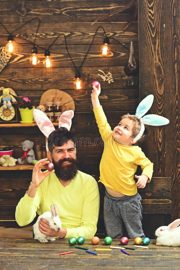Cute little child boy wearing on Easter day. stock photo