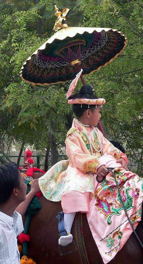 Child in Festival Procession stock image