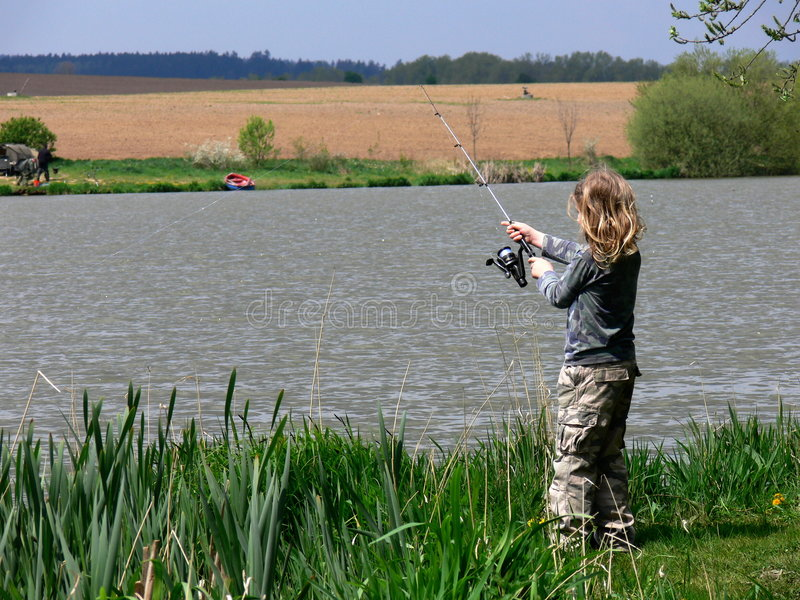 Download Child fishing stock photo. Image of fish, fishing, vacation - 5164760