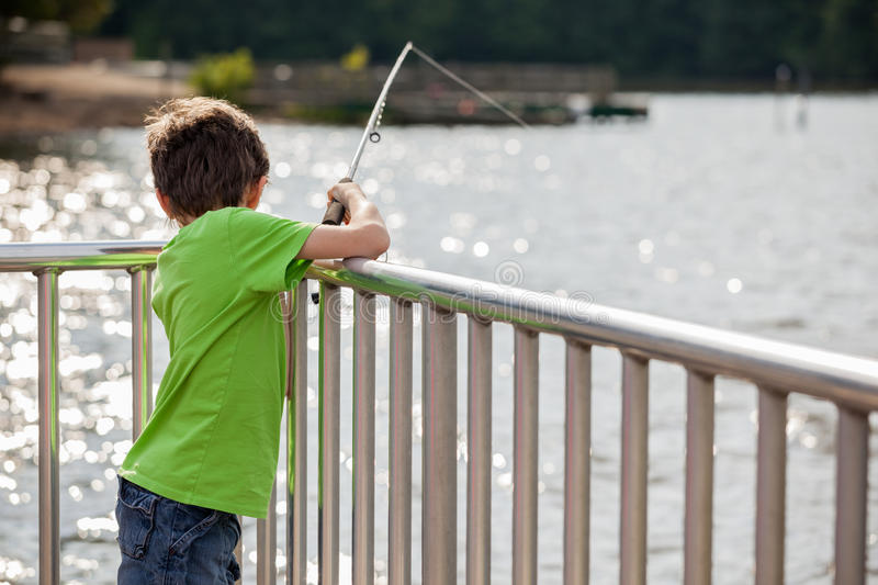 Child Fishing Stock Image