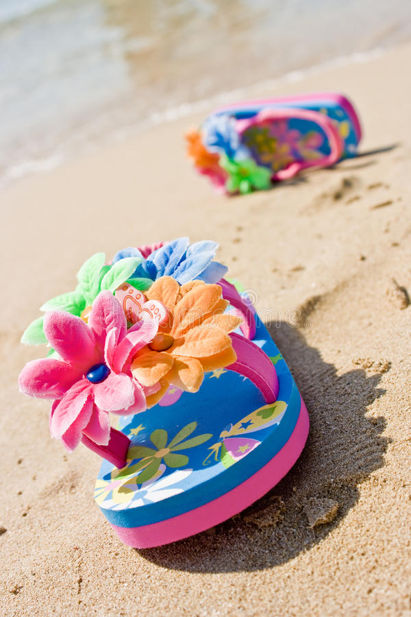 Download Child Flip Flops - With Clipping Path Stock Photo - Image: 9627328
