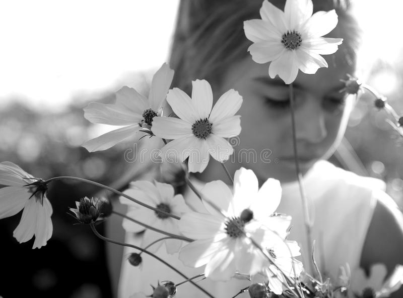 Download Child and flowers stock photo. Image of down, outdoor - 10820850