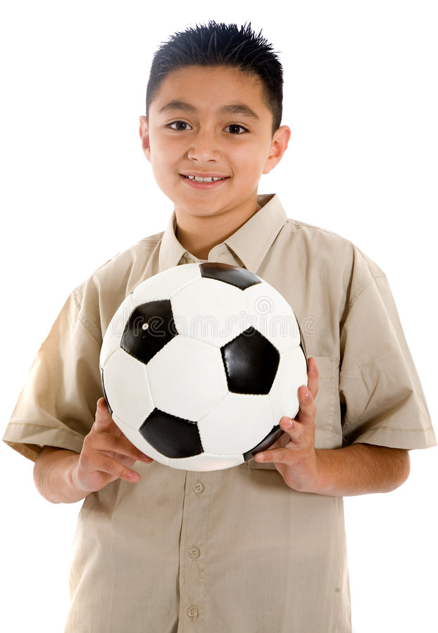 Child with a football ball