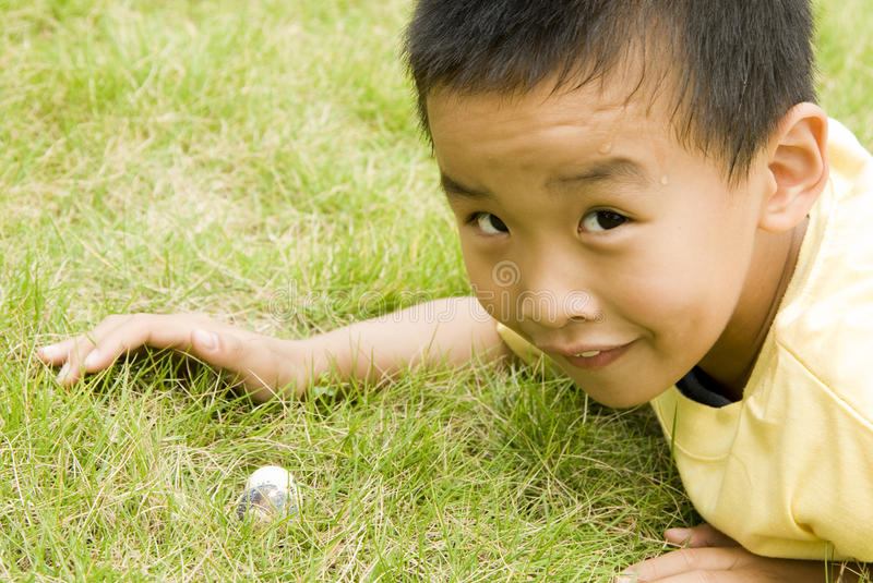 A child found two eggs royalty free stock image